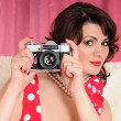 Woman pin up — Stock Photo