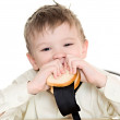 Boy with sandwich — Stock Photo #8954135