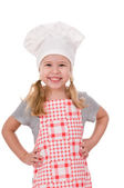 A girl chef — Stock Photo