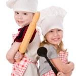 两个孩子厨师 — 图库照片