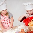 Stock Photo: Two children cooks