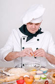 Chef in uniform — Stock Photo