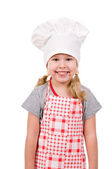 Girl in chef's hat — Stock Photo