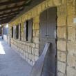 Courtyard of the 19 Century Farm in  Hulah Valley ,Israel — 图库照片