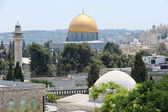 Temple Mount, view from walls of Jerusalem. — Stock Photo