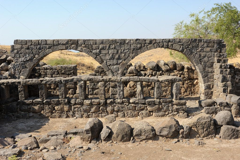 Remains of ancient buildings in the Korazim national park, Israel. — Stock Photo #9361631