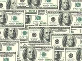 Background of money pile 100 USA dollars — Stock Photo