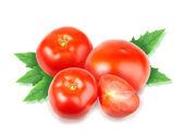 Heap of fresh red tomatos — Stock Photo