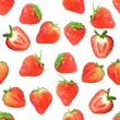 Seamless pattern with red strawberryes — Stock Photo
