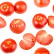 Seamless pattern with red fresh tomatos — Stock Photo #10620022