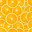 Seamless pattern of fresh orange slice — Stock Photo