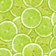 Seamless pattern of green lime slices — Stock Photo #10657933