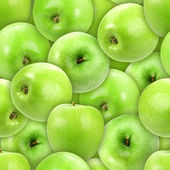 Seamless pattern of heap fresh green apple — Stock Photo
