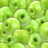 Seamless pattern of heap fresh green apple — Stock Photo