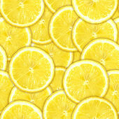 Seamless pattern of yellow lemon slices — Stockfoto
