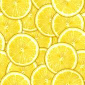 Seamless pattern of yellow lemon slices — Stock Photo