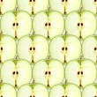 Seamless pattern with slices of green apple — Stock Photo