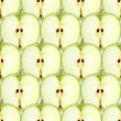Seamless pattern with slices of green apple — Stock Photo #10721704