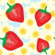 Abstract background with strawberry - Stock Vector