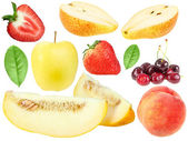 Set of fresh fruits and berryes — Stock Photo