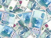 Background of money pile 1000 russian rouble — Stock Photo