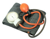 Retro kit for measuring blood pressure — Stock Photo