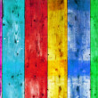 Bright colorful vintage wooden wall — Stock Photo