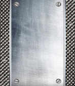 Metalen plaat staal achtergrond. — Stockfoto