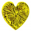 Golden heart isolated on the white — Stock Photo