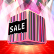 Stock Vector: 3d big sale cube