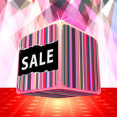 3d big sale cube — Stock Vector