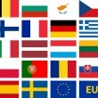 Royalty-Free Stock Vector Image: EU flags