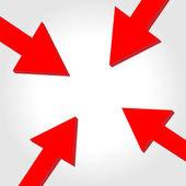 Vector arrow to center — Stock Vector