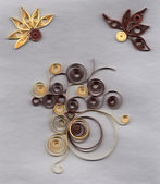 Flower applique with quilling — Stock Photo