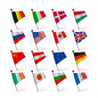 Vector set icons flags — Stock Vector #9044507