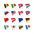 Vector set icons flags — Stock Vector #9044664