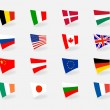 Vector set icons flags — Stock Vector