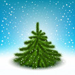 Little fluffy Christmas tree — Stock vektor