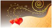 Vector magic kärlek kort — Stockvektor