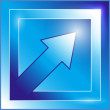 Blue arrow icon — Stockvektor