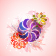 Style abstract floral background — Imagens vectoriais em stock