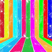 Colour planks interior — Stock Vector