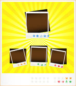 Set template old photoframeworks — Stock Vector