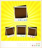 Set template old photoframeworks — Stock Vector