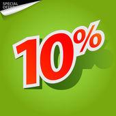 Por cento de rótulo de vetor — Vetorial Stock