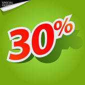 Vector label percent — Stock Vector