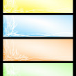 Set beautiful seasonal banners — Stock Vector