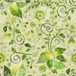 Seamless green floral pattern — Stock Vector #10116787