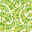 Seamless white-green floral pattern - Stock Vector