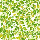 Seamless white-green floral pattern — Vecteur